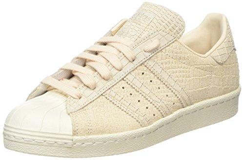 adidas Superstar 80s, Zapatillas Altas para Mujer, Beige Linen/Off White, 38 EU