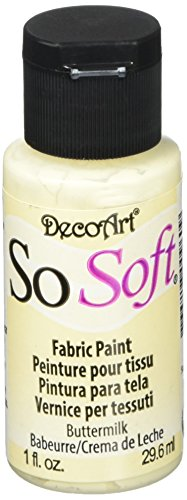 DECO ART-SoSoft Fabric Acrylic Paint. SoSoft Fabric Acrylics are super soft fabric paints that are opaque and give excellent coverage and washing durability on fabric. They are soft, like fabric dyes, but do not require the addition of a medium or he...