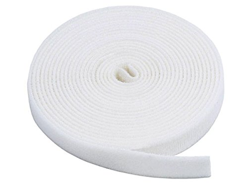 Monoprice Klettband Klettverschluss- Weiß, 5 Yard/Rolle, 1,9 cm (3 Pack) Selbstklebendes Material -