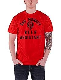 Gas Monkey Garage T Shirt Beer Monkey Kustom Builds Nuevo Oficial de los Hombres