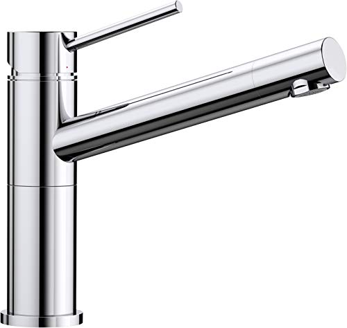 Blanco Alta Compact Küchenarmatur / Kompakter Einhebelmischer in Chrom / Hochdruck -