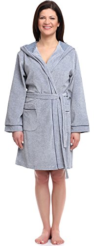 Wanmar Femme Velour Robe de Chambre Camelia Melange
