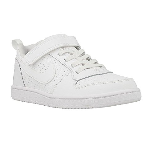 Nike Jungen Court Borough Low (Psv) Basketballschuhe Weiß (White/white)