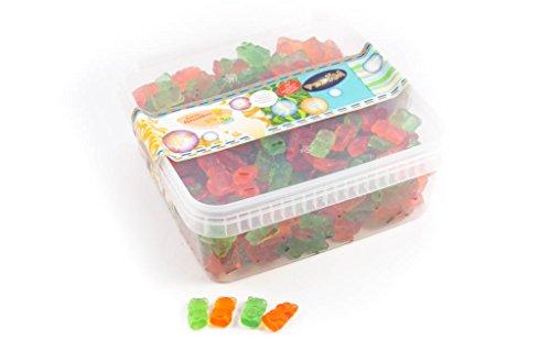 Fruchtgummi Bärchen ohne Zucker, mit Vitamin C - in einer praktischen AromaFrischeNaschbox 1kg - Deine Naschbox.