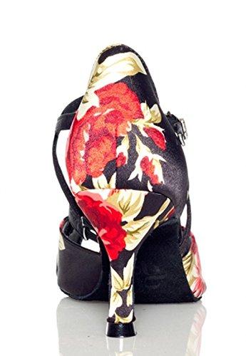 TDA ,  Damen Tanzschuhe 7.5cm Black