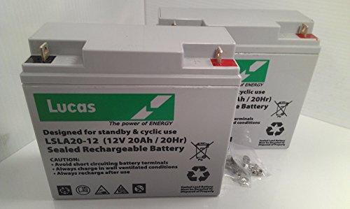 Batterien für Roller, elektrischen Rollstuhl  | 2 x Lucas 12V, 20AH (18 AH, 21 AH, 22 AH)