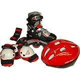 Score Direct 887 - Kit de patines en línea con protecciones (talla regulable 33-37)