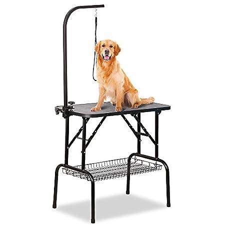 Yaheetech Klappbarer Tragbarer Haustierpflegetisch Hundepflegetisch für Haushaltsbaden, Haartrocken und Haarschneiden…