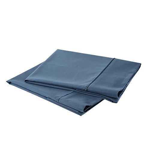 Wohlstand 1000-thread-count, 100% Baumwolle Satin Kissenbezüge Set (Standard/Queen, jahrtausendealte blau) (Kissenbezüge Standard-baumwolle)