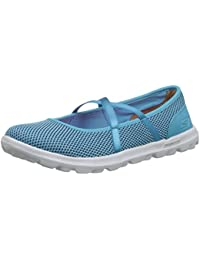 Skechers Breathe Easy-Lucky Lady, Mary Janes Femme, Gris (Charcoal Ccl), 38.5 EU