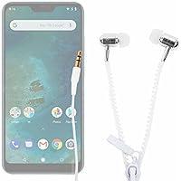 DURAGADGET Innovadores Auriculares con Cremallera para Smartphone DOOGEE X55, Ulefone S8 Pro, Xiaomi Mi