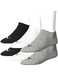 18 pair Puma Sneaker Quarter Socks Unisex Mens & Ladies, Farben:800 - anthraci/l mel grey/m me, Socken & Strümpfe:35-38
