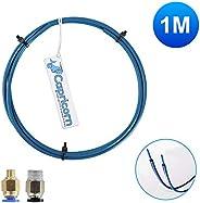 Capricorne PTFE Tubes Bowden (1 mètre) Série XS pour filament 1,75 mm, avec raccords pneumatiques PC4-M6 et PC