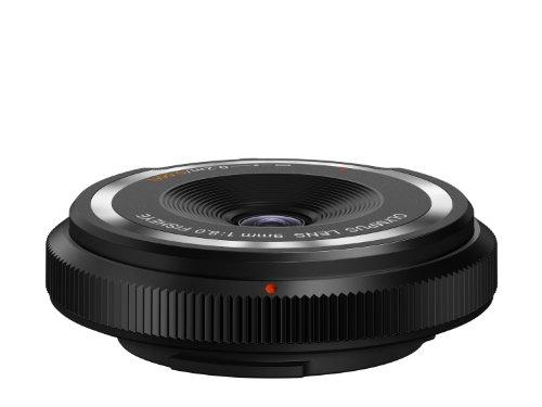 OLYMPUS Body Cap Lens Obiettivo 9 Mm 1:8.0, Fisheye, Ultrasottile, Micro Quattro Terzi, per Fotocamere OM-D e PEN, Nero