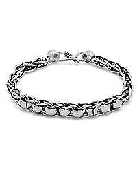 Voylla Silver Metal Chain Bracelet For Men