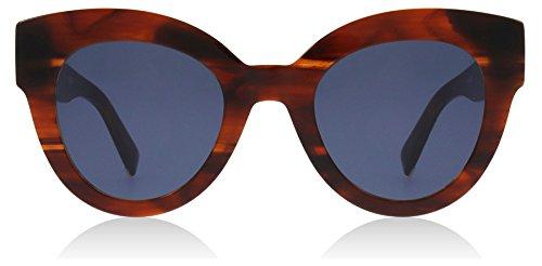 Max mara mm flat i occhiali sole donna ex4/ku brown horn