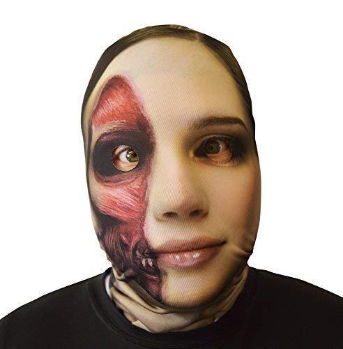3D Effekt geschälte Gesicht Haut Sensenmann Halloween Horror Maske hergestellt in Yorkshire
