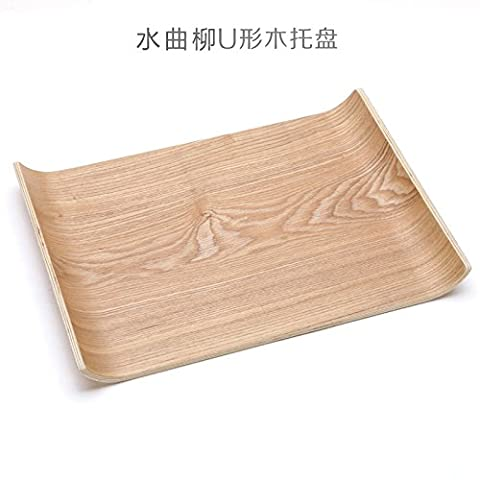 A large wooden tray tray simple plate plate for bread