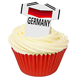 Pack of 12 Edible Wafer Decorations - Germany Football Shirts 201-447