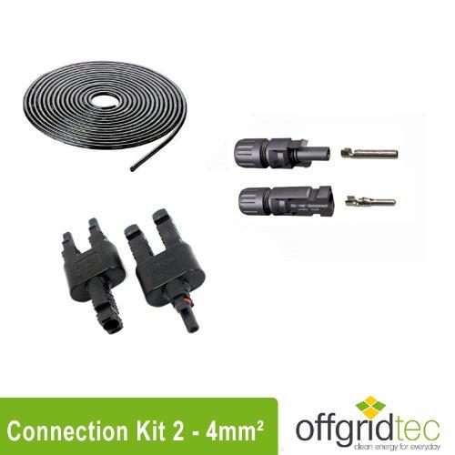 Offgridtec Solar Connection Kit 2 4mm² - 10m Solarkabel, MC4 Steckverbindungen und Y-Abzweigbuchsen, 0005-10002