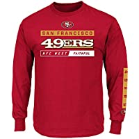 10ab95a4 San Francisco 49ers Majestic NFL Primary Receiver 2 Long Sleeve Men's T- Shirt