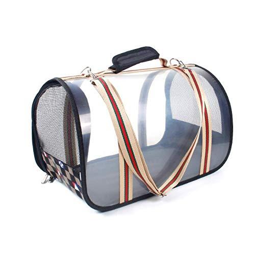 WEAO Zaino Portaoggetti Premium Trasparente per Cani di Piccola Taglia Borsa Diagonale A Spalla Design Ventolato Supporto per Cintura di Sicurezza Progettato per Uso Esterno (Dimensione : L)
