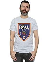 Majestic Homme MLS Real Salt Lake Logo T-Shirt Small Heather Gris