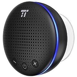 TaoTronics Altavoz Bluetooth Ducha Impermeable Inalámbrico con LED y Ventosa IPX7 Micrófono Integrado, hasta 6 Horas de Reproducción para Playa, Ducha, Viaje y más