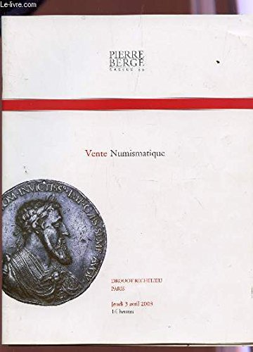 VENTE NUMISMATIQUE - A DROUOT RICHELIEU LE 3 AVRIL 2003.
