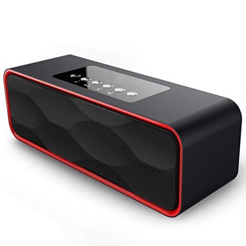 SANRENXING Wireless Bluetooth Lautsprecher Outdoor Lautsprecher Leistungsstarker Wireless 360° Sound Bluetooth Speakers mit Wasserfest Stoßfest Mikrofon und Reinem Bass