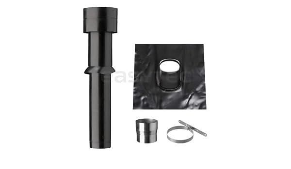 Easytec® dachdurchführung schwarz für steildach Ø 150 mm dachhaube