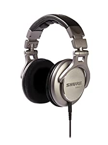 Shure SRH940-E Professional Closed-back Reference Studio Headphones for professional applications, precisely tailored flat frequency response to deliver rich bass, clear mid-range and extended highs, detachable cable, velour ear pads, collapsible, black/s