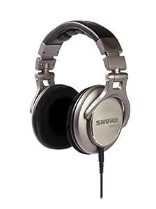 Shure SRH940-E Casque Studio et Hi-Fi Référence pour applications professionnelles, réponse en fréquence optimisée avec basse profondes, médiums précis et aigus de grande clarté, câble amovible, oreillettes en velour, repliable, noir/argent