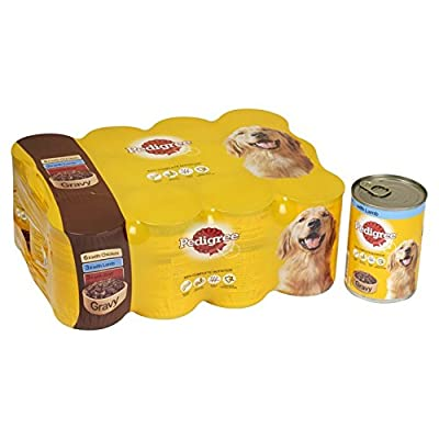 Pedigree Dog Tins Mixed Meat Selection in Gravy, 12 x 400 g by Mars Petcare