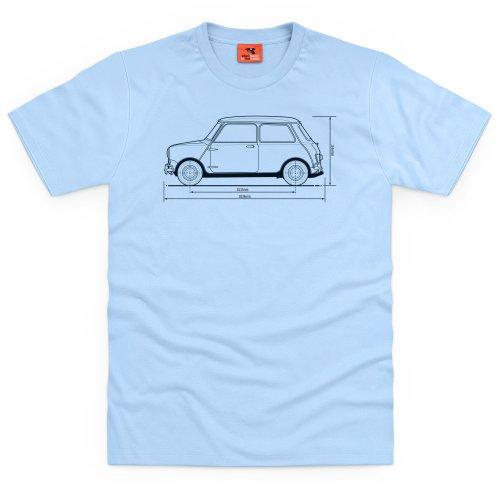 PistonHeads Classic British City Car T-Shirt, Herren Himmelblau