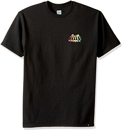 HUF Herren T-Shirt PYRAMID TEE - BLACK Black