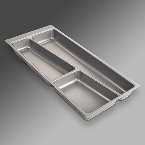 Preisvergleich Produktbild SO-TECH® Besteckeinsatz ORGA-BOX II für Nobilia 30er Schublade (462 x 205 mm) silbergrau
