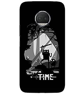 Motorola Moto G5S Plus TIME QUOTE PRINTED BACK CASE COVER by SHAIVYA