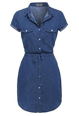 SS7 New Denim Blue Shirt Dress Sizes 6-16