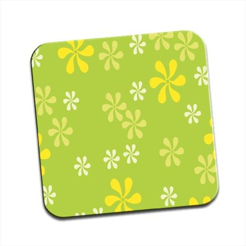 seamless-overflowing-flowers-in-white-green-yellow-single-premium-glossy-wooden-coaster
