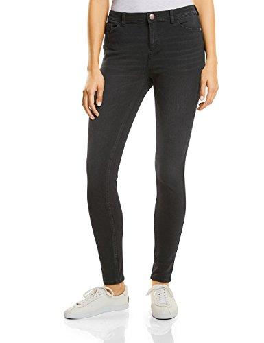 Street One Damen Slim Jeans 371048 Yoko, Schwarz (Natural Black Wash 11134), W38/L32 (Herstellergröße: 29) (Hose Jeans Dunkle)