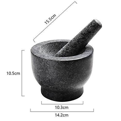 KXBYMX Mortero y mortero Molino triturador de Hierbas de mármol Resistente de la Especia de la Roca y del mortero Conjunto de mortero y mortero