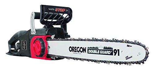 elektro baumschere Scheppach Elektro Kettensäge CSE2500 (2400 Watt, Schnittlänge 460 mm, Oregon-Kette- und Qualitätsschwert, Kettengeschwindigkeit: 13m/sec, inkl.  LED-Licht und Zugentlastung für Verlängerungskabel)
