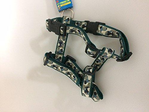 Trixie Modern Art H-Geschirr Camouflage, M–L: 50–75 cm/25 mm, grün/camouflage