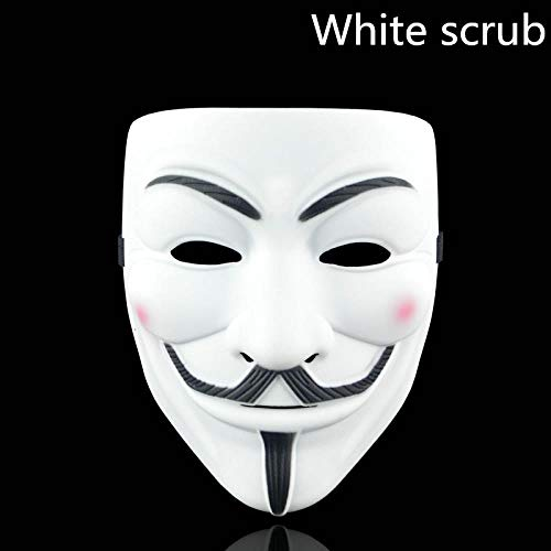 Für For Vendetta V Erwachsene Kostüm Herren - SUNMM 1 Stücke 8 Partei Maske V Für Vendetta Maske Phantasie Erwachsene Kostüm Zubehör Party Cosplay Halloween Maske, Orange