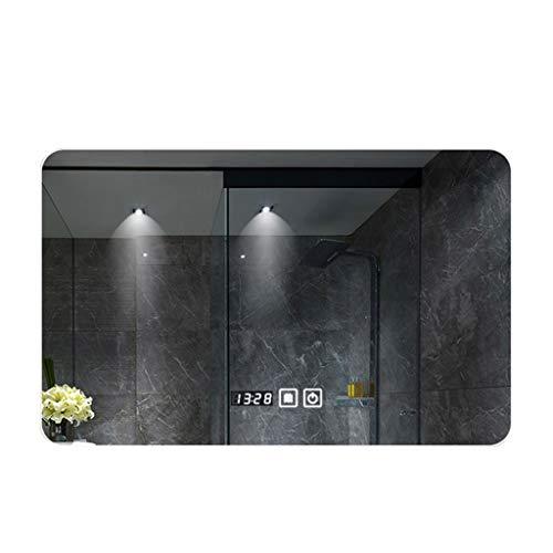 ZI Ling Shop- Espejo sin Marco Inteligente del Cuarto de baño, Pared Que cuelga llevó Bluetooth antiniebla Ligero (Color :...