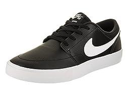 Nike Men's Sb Portmore Ii Solar Prm Blackwhite Skate Shoe 10.5 Men Us