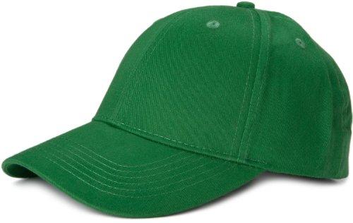 styleBREAKER Klassisches 6 Panel Cap mit gebürsteter Oberfläche (Grün) Grün 14