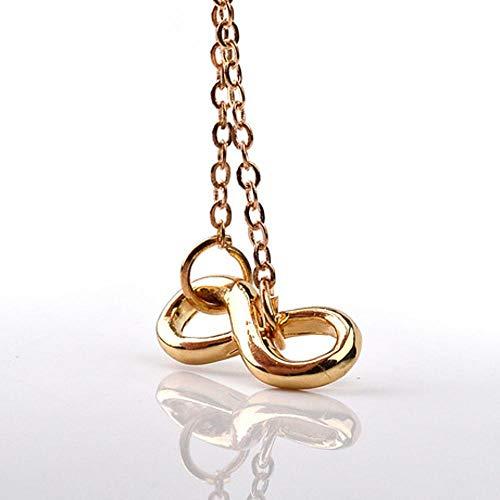 ERKEJI Halskette Schmuck Nummer 8 einfache kreative Anhänger weiblich