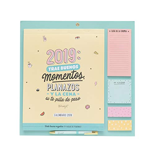 Mr. Wonderful - Calendario magnético para nevera año 2019